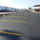 Before parking lot striping