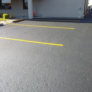 after sealcoating and striping